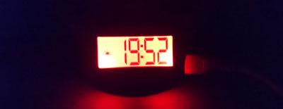 バックライトが点灯したinti4
