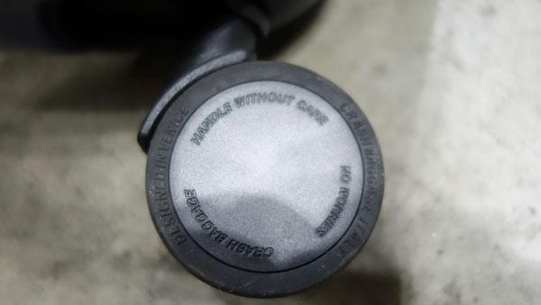 クラッシュバゲージの車輪