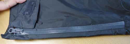 ズボンのサイドファスナー