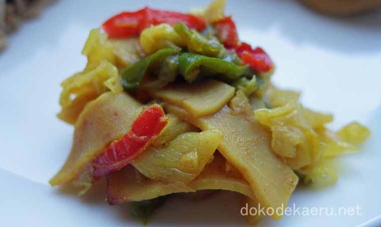 野菜炒め(カレー風味)