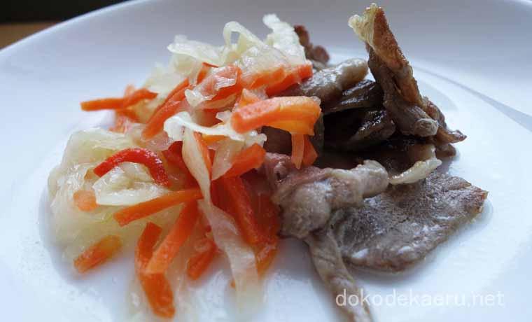 豚肉の野菜マリネ