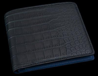 池田工芸 マットクロコダイル二つ折り財布