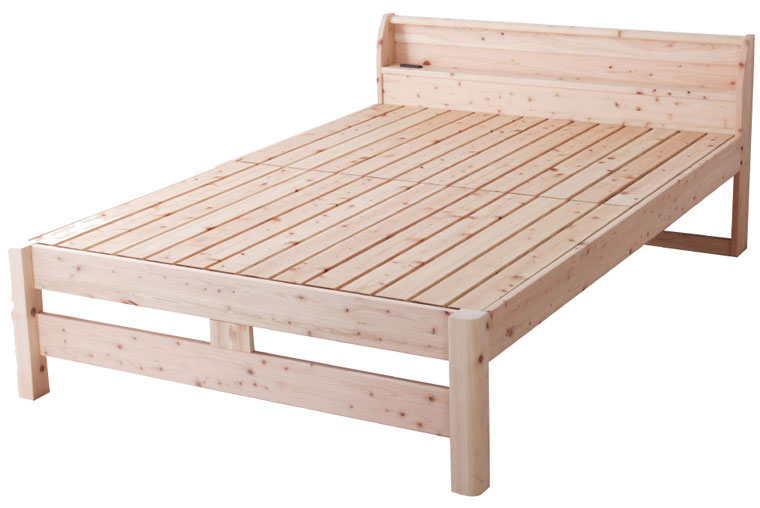 源ベッド 頑丈ひのきスノコベッド