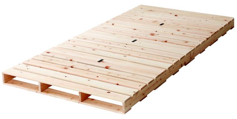 源ベッド ひのきパレットベッド