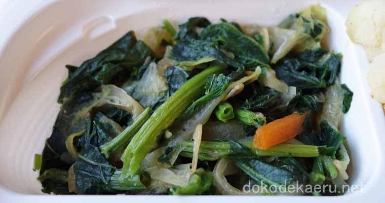 モロヘイヤと干しエビの野菜炒め